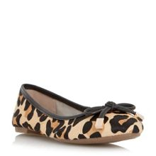 Dune Hero bow detail ballerina shoes