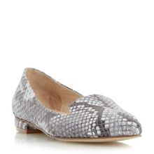 Gracee leather reptile print loafers