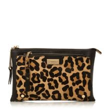 Electra double pouch clutch bag