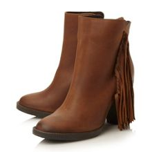 Woodstck  fringe detail low boots