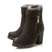 Steve Madden Sweater  zip detail low boots