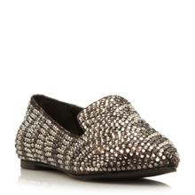 Showey diamante slipper cut loafers
