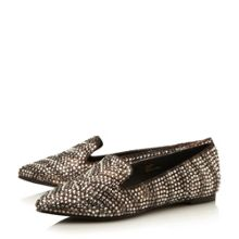 Steve Madden Showey diamante slipper cut loafers