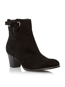 Pascale knot detail leather ankle boots