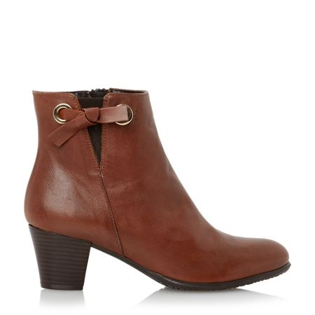 Episode Pascale knot detail leather ankle boots