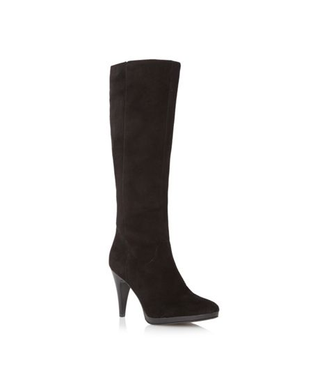 Episode Symone suede knee high heeled boot
