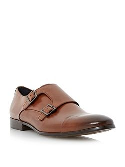 Reynold toecap double monk shoes