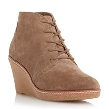 Pip mid wedge heel lace up ankle boot