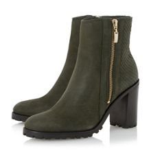 Prett cleated sole heeled ankle boots