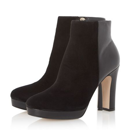 Dune Olympe leather mix heeled ankle boots