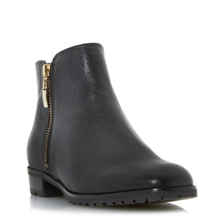 Dune Porta cleated sole side zip ankle boots