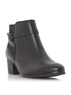 Pattison buckle trim leather ankle boots