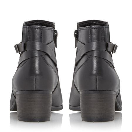 Linea Pattison buckle trim leather ankle boots