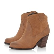 Perman western style heeled ankle boots