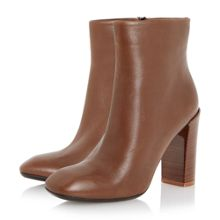 Dune Black Orly polish heel square toe boots