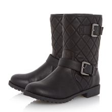 Linea Truly quilted biker boots