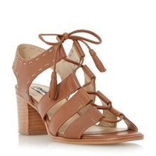 Dune Ivanna ghillie lace block heel sandals