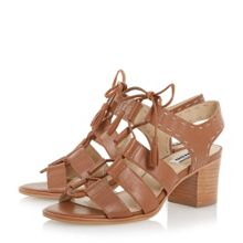 Ivanna ghillie lace block heel sandals