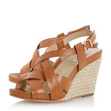 Kitt strappy leather espadrille wedges