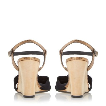 Dune Knowsley front knot detail wedge sandals