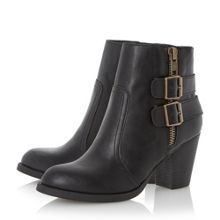 Pardonne buckle and zip trim ankle boots