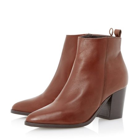 Dune Black Piper pointed toe heeled ankle boots