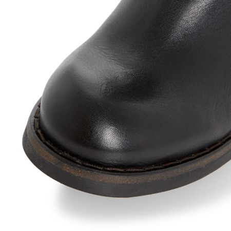 Dune Black Parrie furlined round toe boots