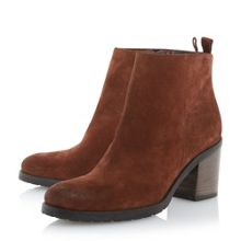 Phelix suede block heel ankle boots