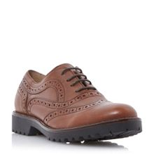 Dune Black Fawne lace up leather brogues