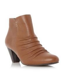 Olivio ruched detail ankle boots