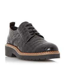 Dune Black Farra cleated lace up shoes