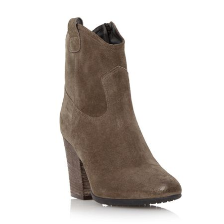 Dune Black Purly western style ankle boot