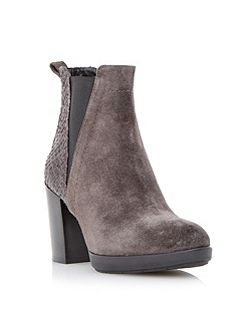 Pondo mixed material ankle boot