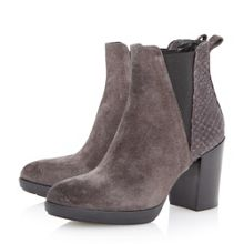 Dune Black Pondo mixed material ankle boot