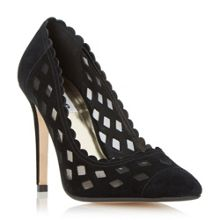 Bessie mesh detail court shoes