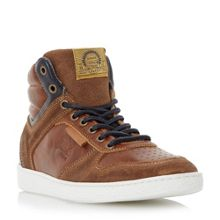 Dune Sandy hills collar high top trainers