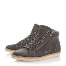 Sugar snap lace up hi top trainers