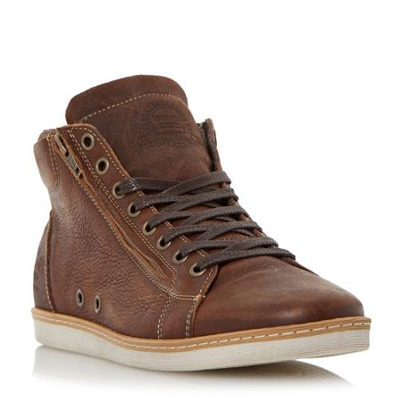 Dune Sugar snap lace up hi top trainers