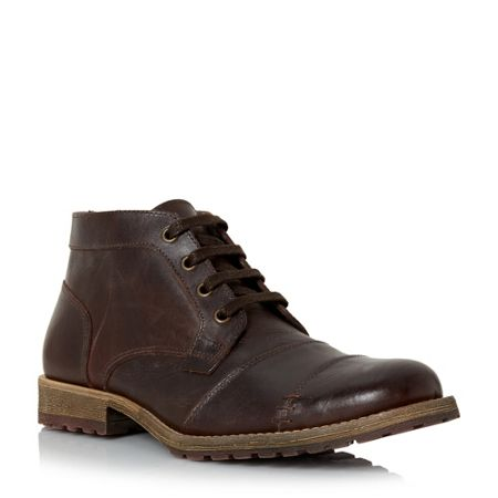 Dune Chamater natural sole toecap chukka boots