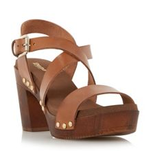 Jaxon cross over strap block heel sandals