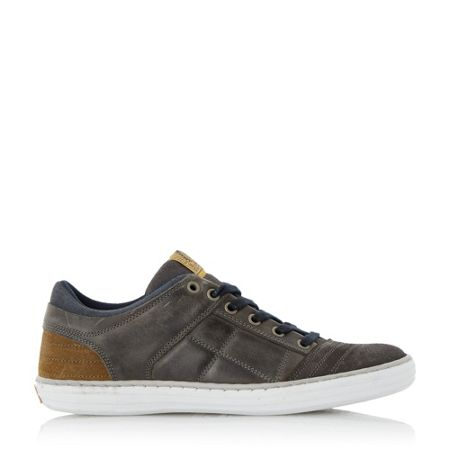 Dune Temper Leather Cupsole Trainers