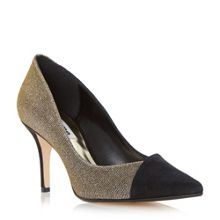 Aleni asymmetic mid heel court shoes