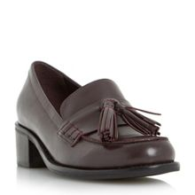 Dune Gloria mid heel block loafers