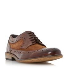 Braker combo mixed material brogue shoes