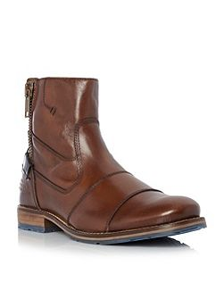 Cackle toecap side zip leather boot