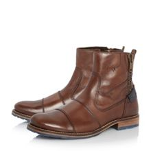 Cackle double toecap leather boots