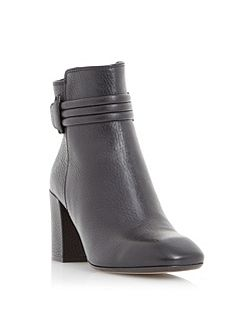 Olena square toe leather ankle boot