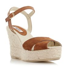 Koopa suede cross strap wedge sandals
