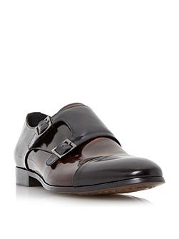 Reynold toecap detail leather monk shoes