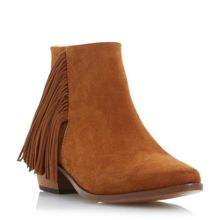 Preda point boots with fringing